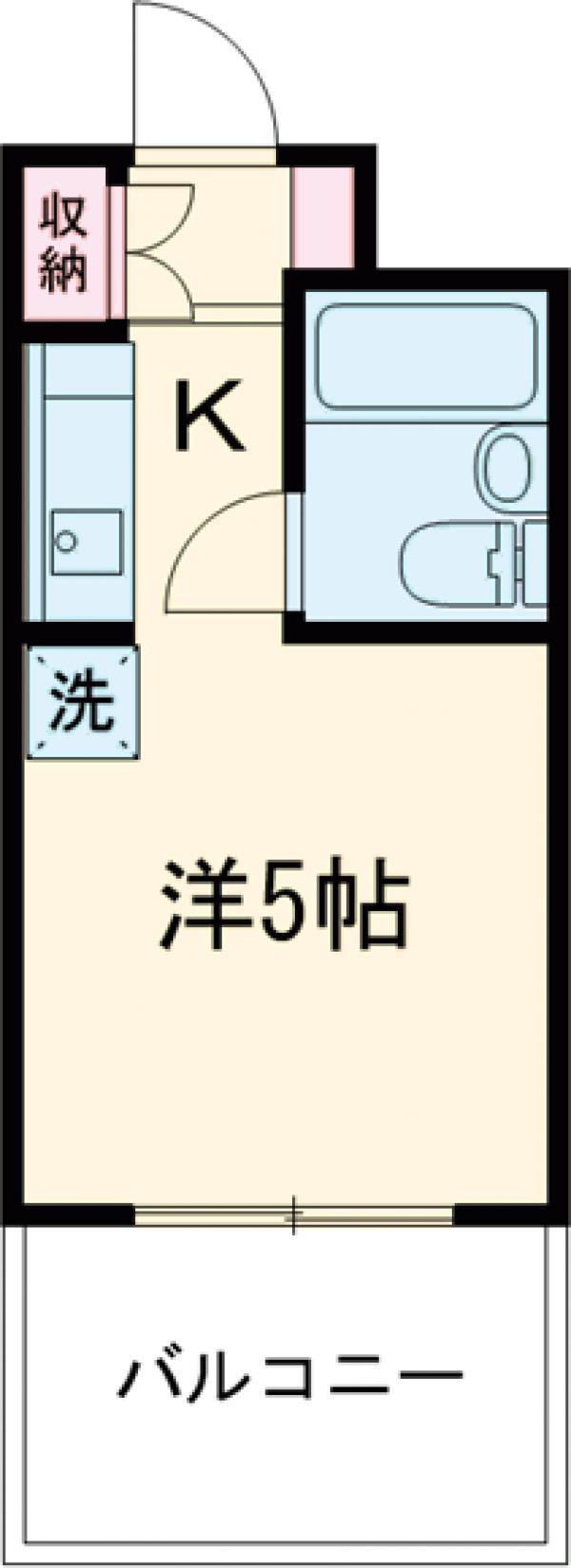 ミヨシ高幡ビル・406号室の間取り
