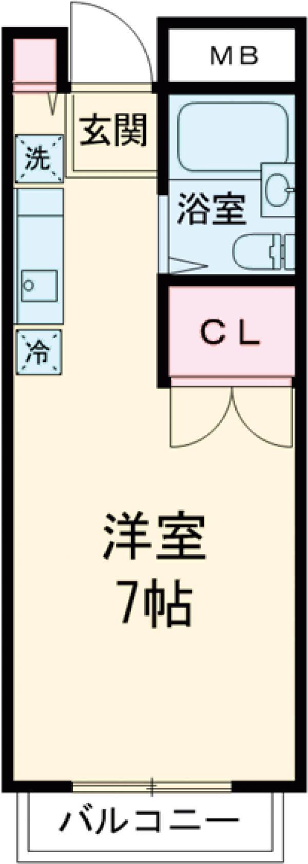 エルム高幡A棟 108号室の間取り