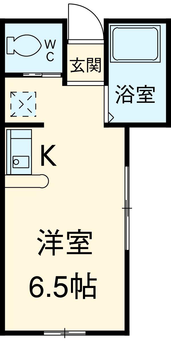 コラーレ二俣川・101号室の間取り
