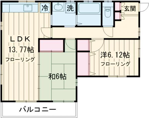 石川邸・2F号室の間取り