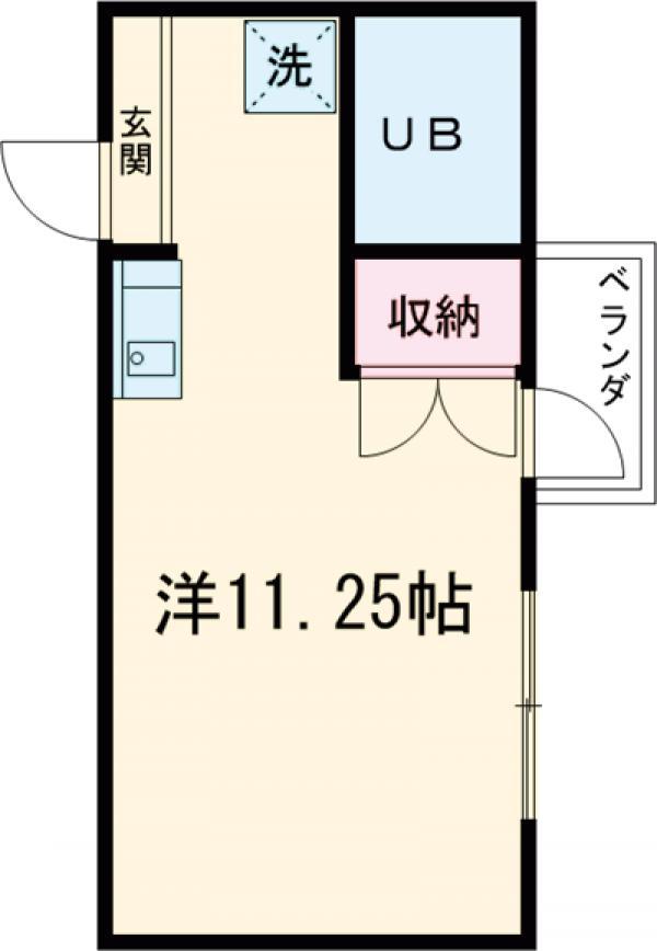 アメニティコウヤマ第6ガーデン 117号室の間取り