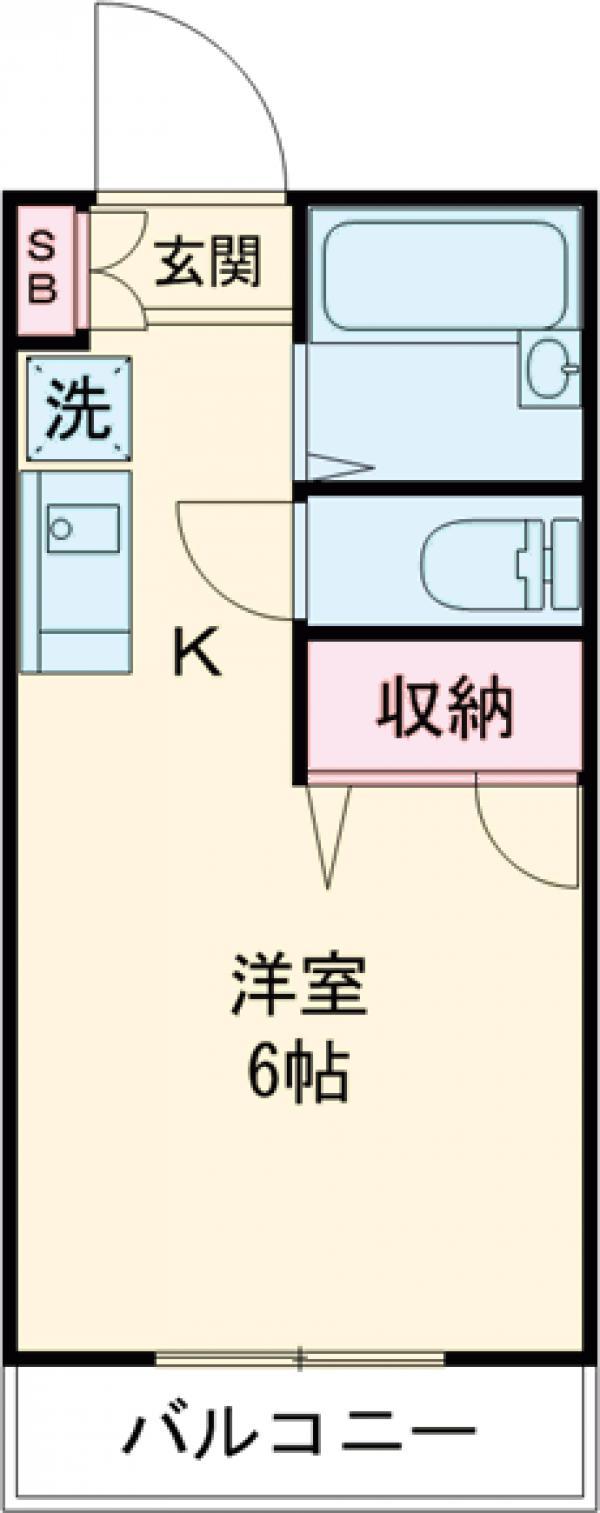 ジュネスAOKI・106号室の間取り