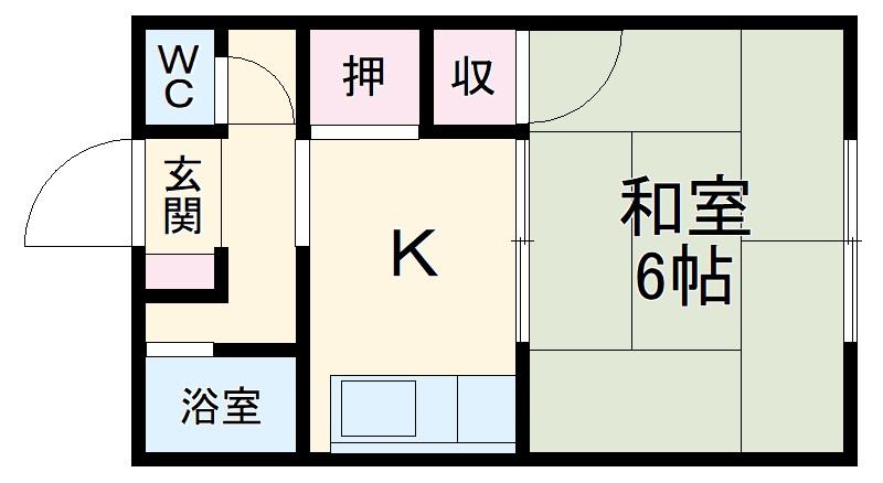 大和荘・22号室の間取り