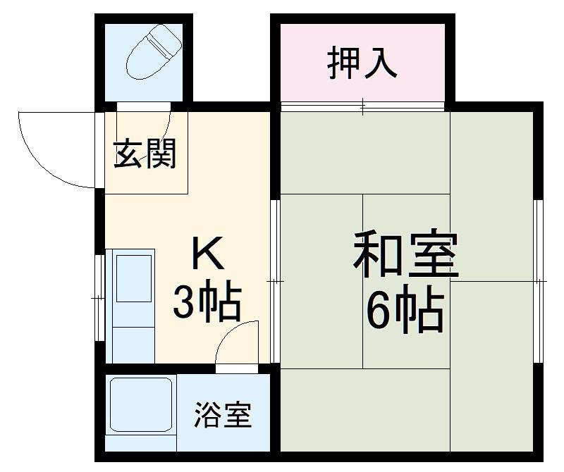 浅井荘・103号室の間取り