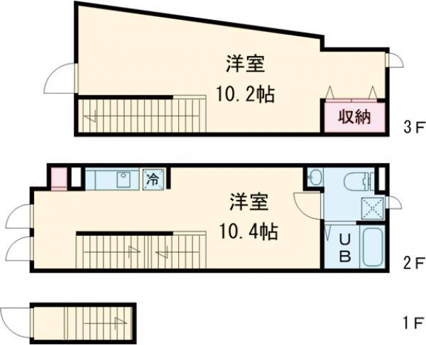 Presi桜新町Ⅱ 203号室の間取り