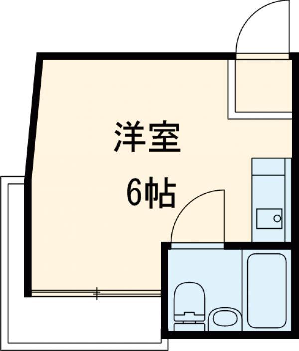 JLBグランエクリュ駒沢大学 105号室の間取り