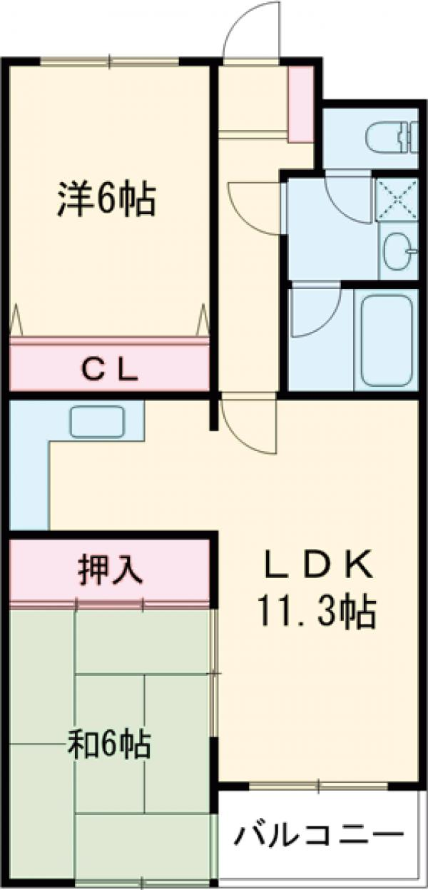 K&Yマンション・302号室の間取り