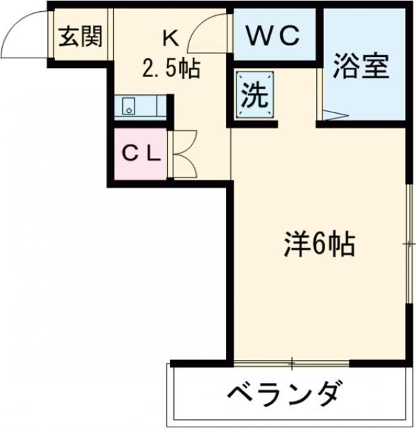 メゾン東元町・202号室の間取り