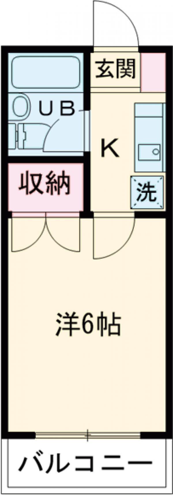 永山フラワーマンション 103号室の間取り