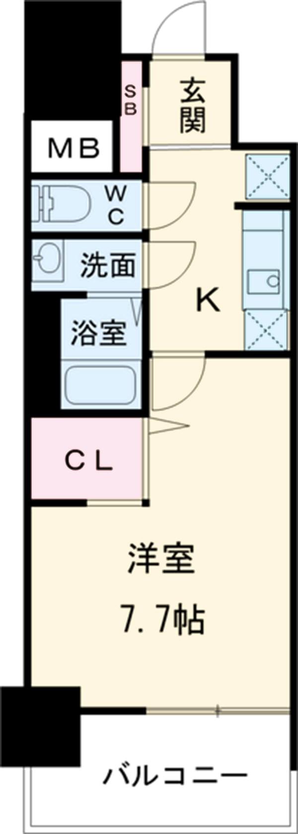 プレサンス新栄町ギャラント・904号室の間取り
