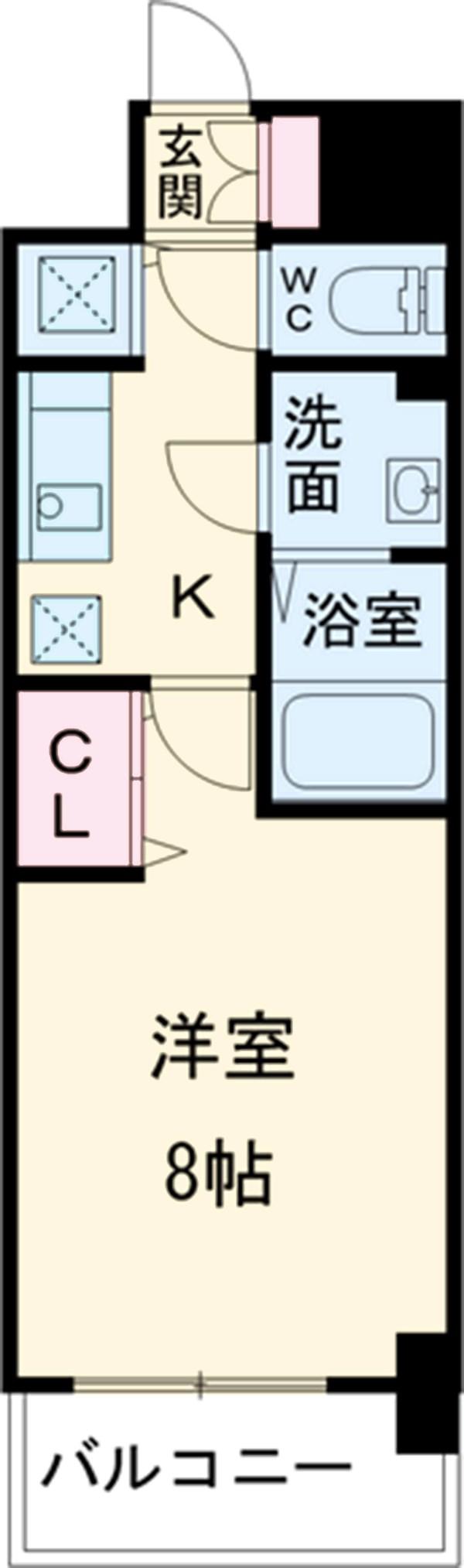 プレサンス新栄町ギャラント・910号室の間取り