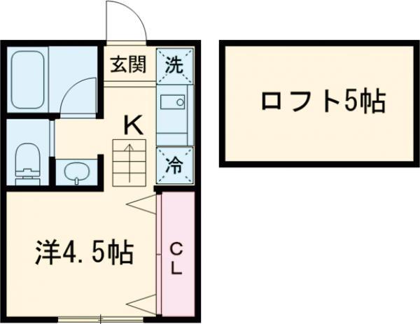 コーポICHIDAI 202号室の間取り
