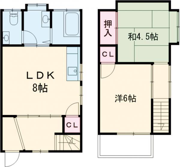大塚アパート 5号室の間取り