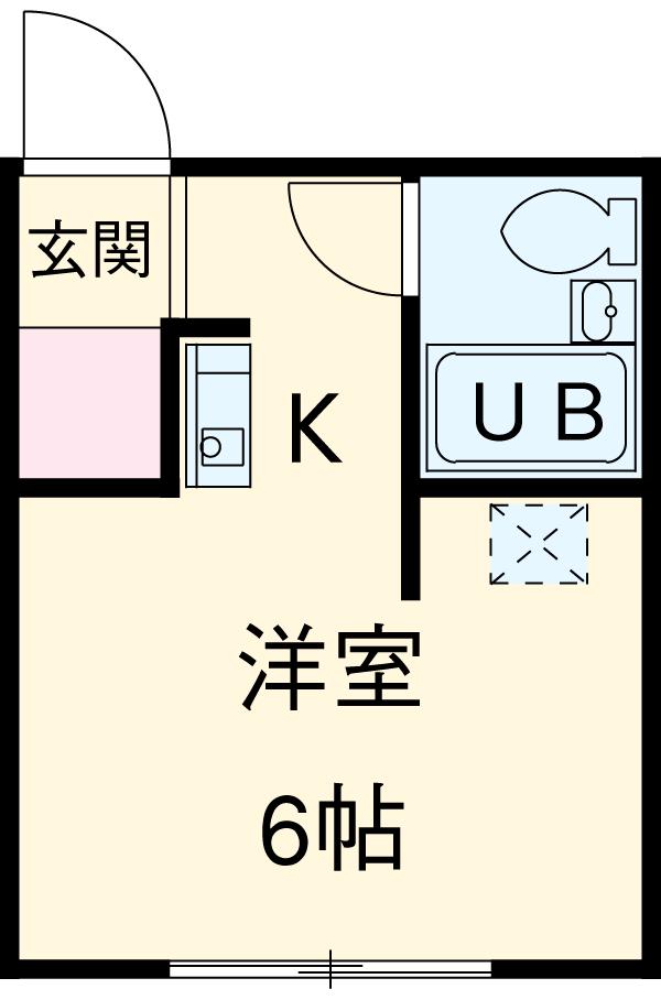 コーポ杉栄Ⅲ 4A号室の間取り