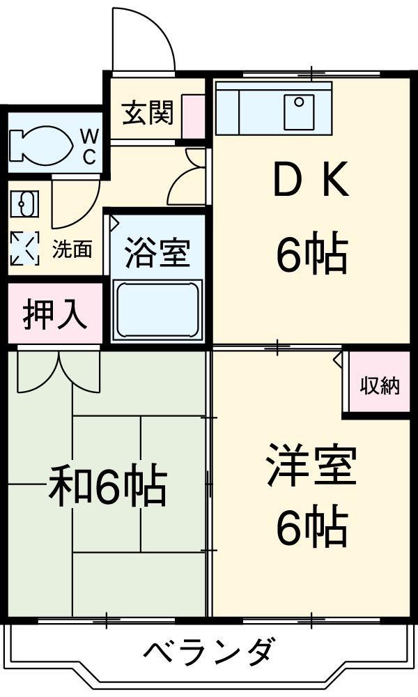 ボナール東元町・102号室の間取り