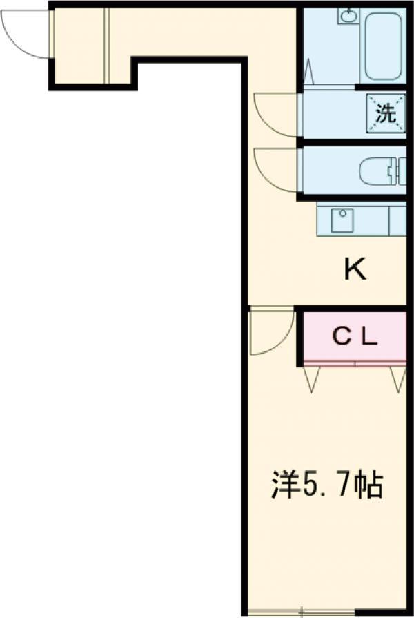 Ambition聖蹟桜ヶ丘Ⅱ 205号室の間取り