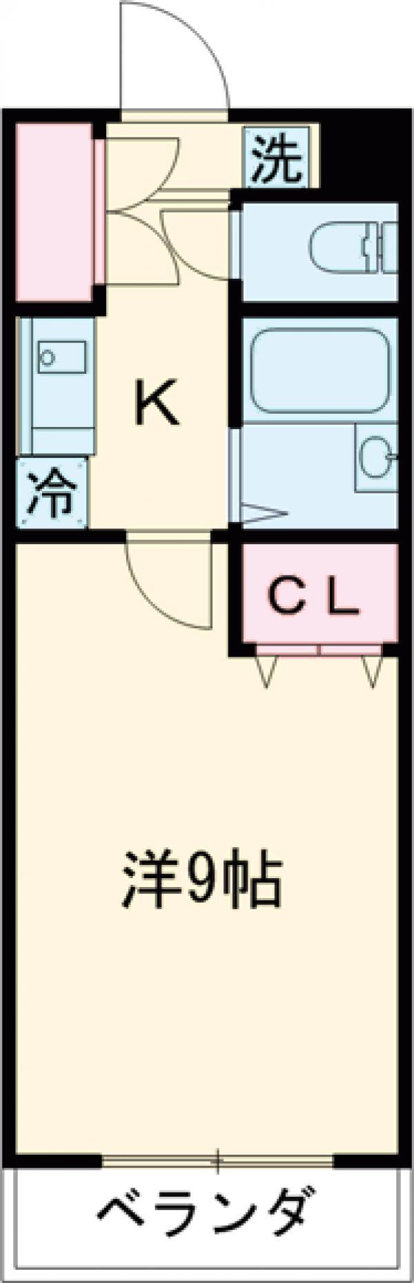 ルピナス7・205号室の間取り