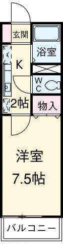 ウィズ中村橋Ⅱ・202号室の間取り