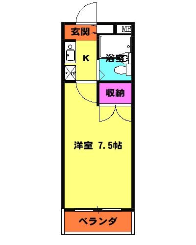 三沢ハイツ 307号室の間取り
