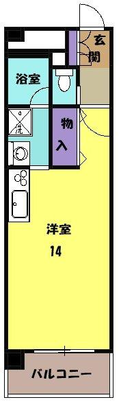 ラ・ミノールⅢ・303号室の間取り