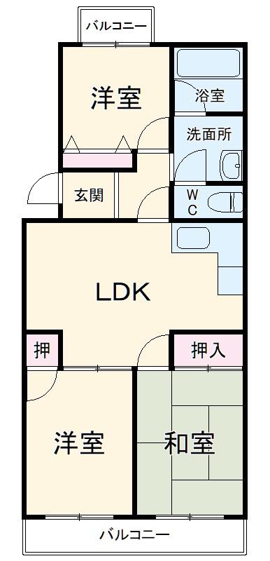 ダイヤモンドマンション1号館・103号室の間取り
