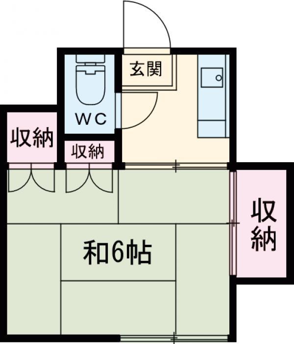 会田荘・202号室の間取り