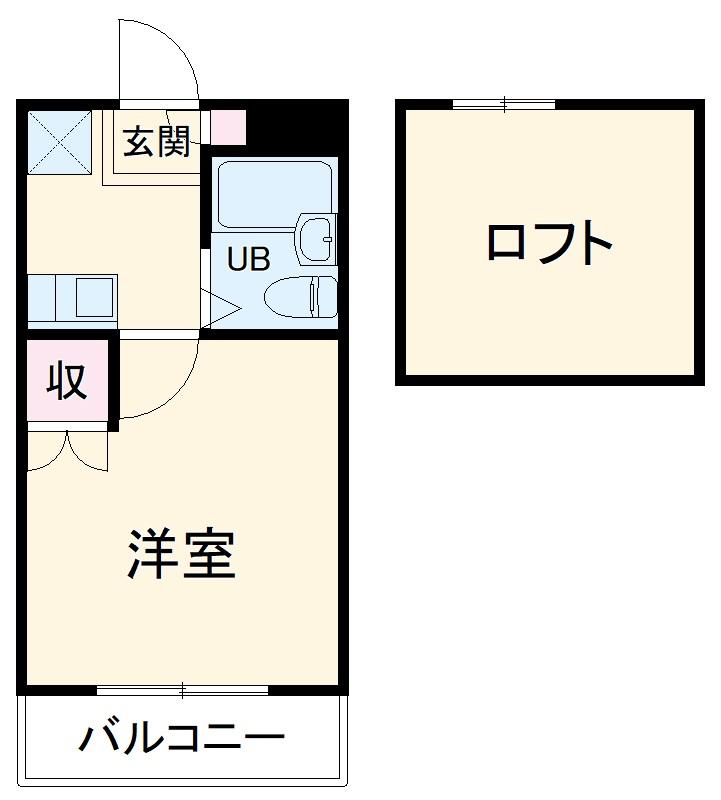 昭和コーポ上柴東・103号室の間取り