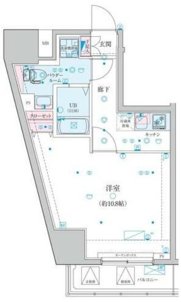 ジェノヴィア渋谷笹塚スカイガーデン・802号室の間取り