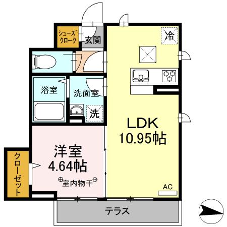 メゾン青井・103号室の間取り