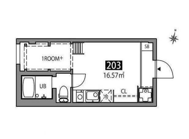マツバラハウス・203号室の間取り
