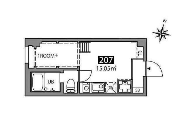 マツバラハウス・207号室の間取り