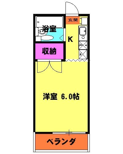豊島ハイツ 208号室の間取り