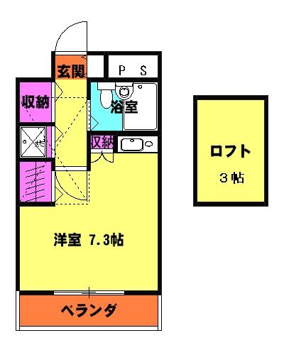 グランコート熊谷弐番館 401号室の間取り