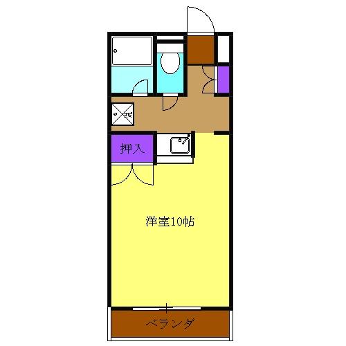 ソフィアライト・2-D号室の間取り
