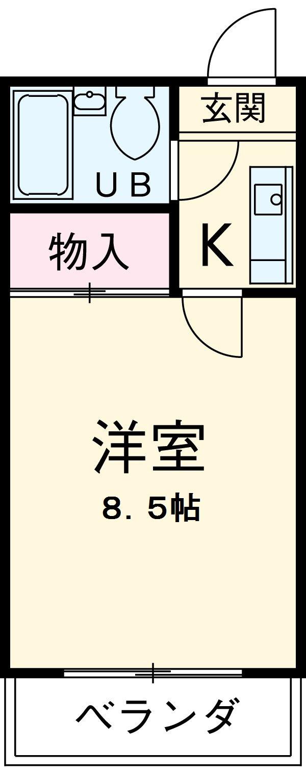 ハイツ松栄A・205号室の間取り