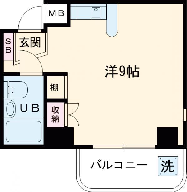 メゾンブランシュⅡ・305号室の間取り