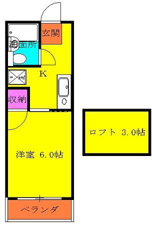 タマイハウス5 J号室の間取り