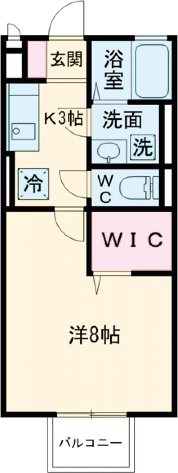 ソフィアKUZUHA・203号室の間取り