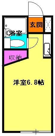 センチュリー21・102号室の間取り