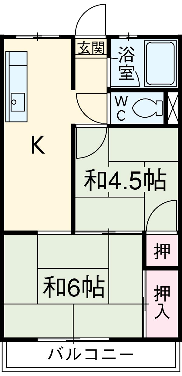 やまざきマンション・305号室の間取り