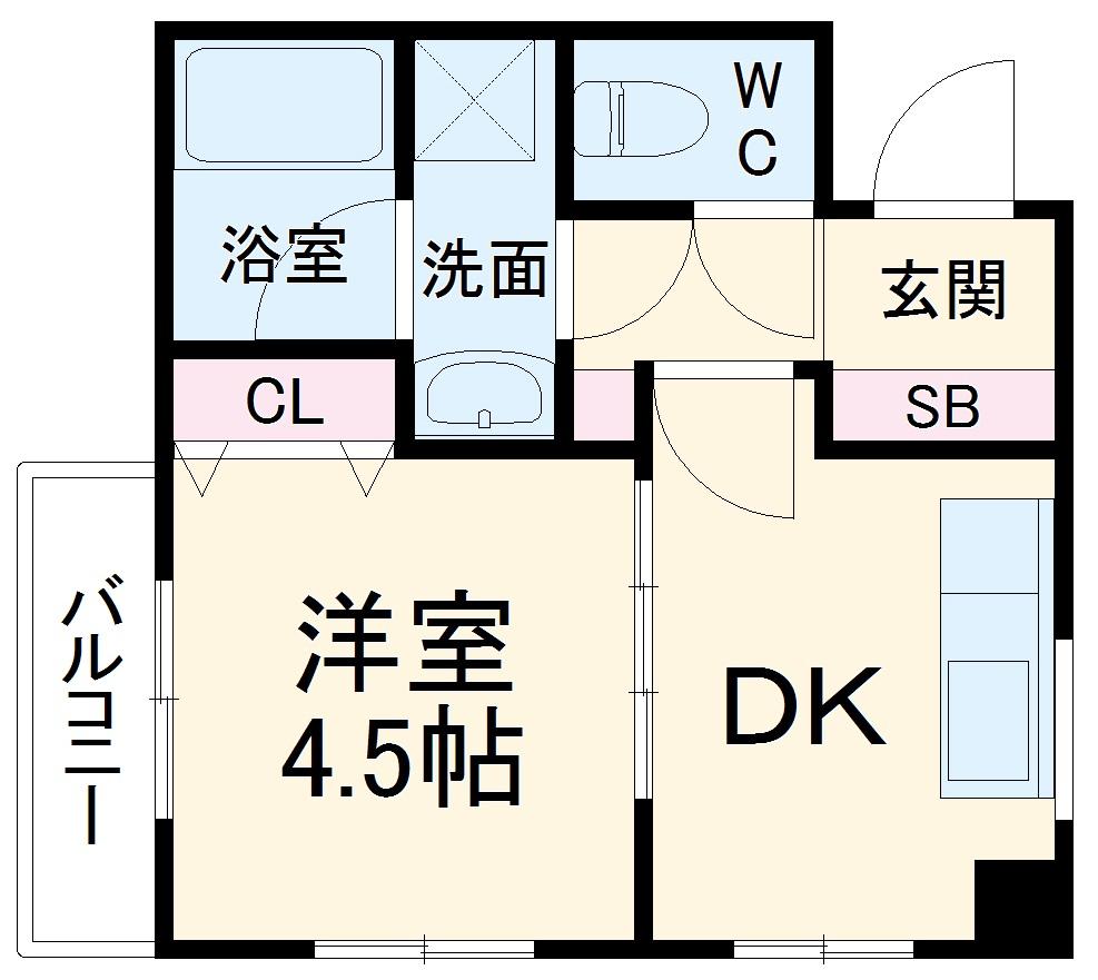 ポートハイム第七吉野町・308号室の間取り