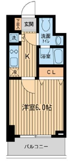 KDXレジデンス雪谷大塚・603号室の間取り