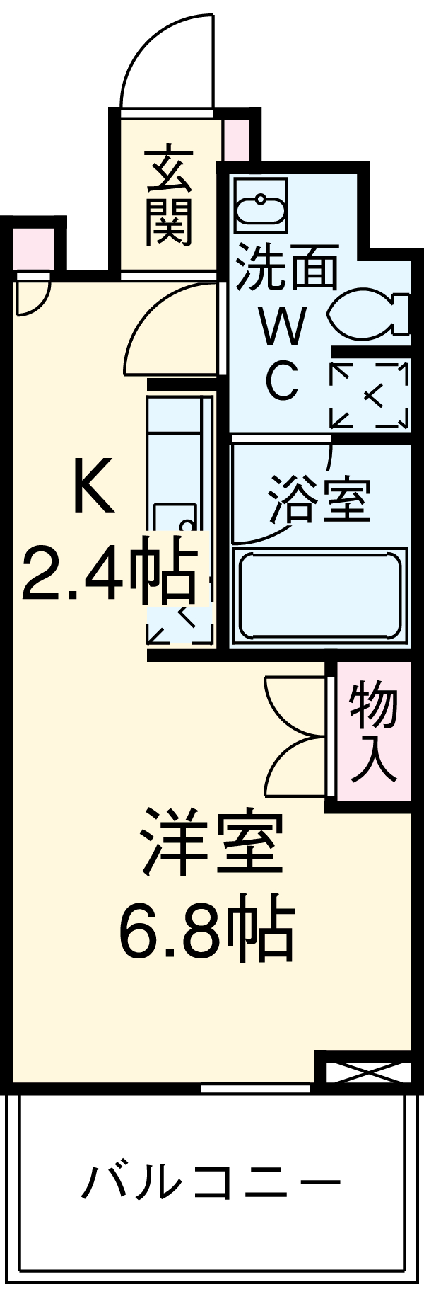 プロスペクトKALON三ノ輪・403号室の間取り