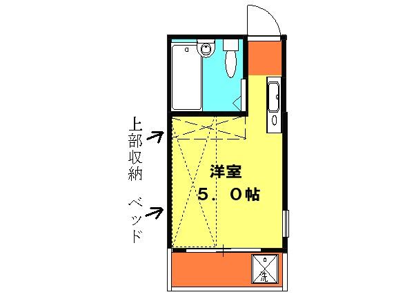亀田ビル・201号室の間取り