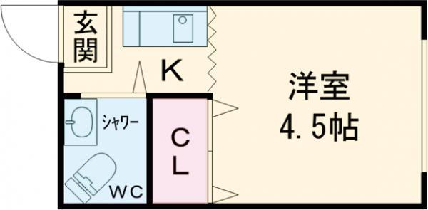 藤の木コーポ・101号室の間取り