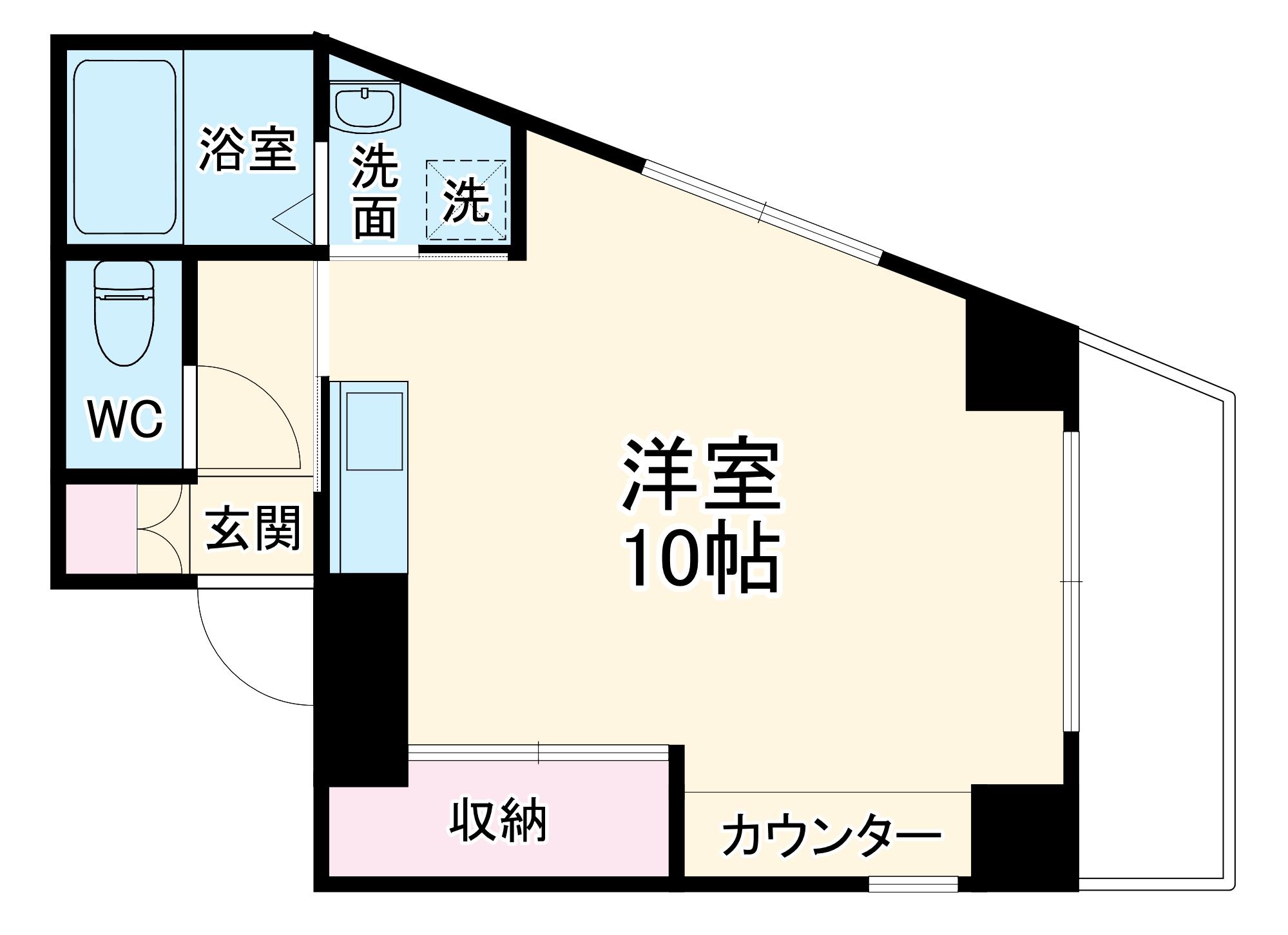 アネックスAZUMI・4D号室の間取り
