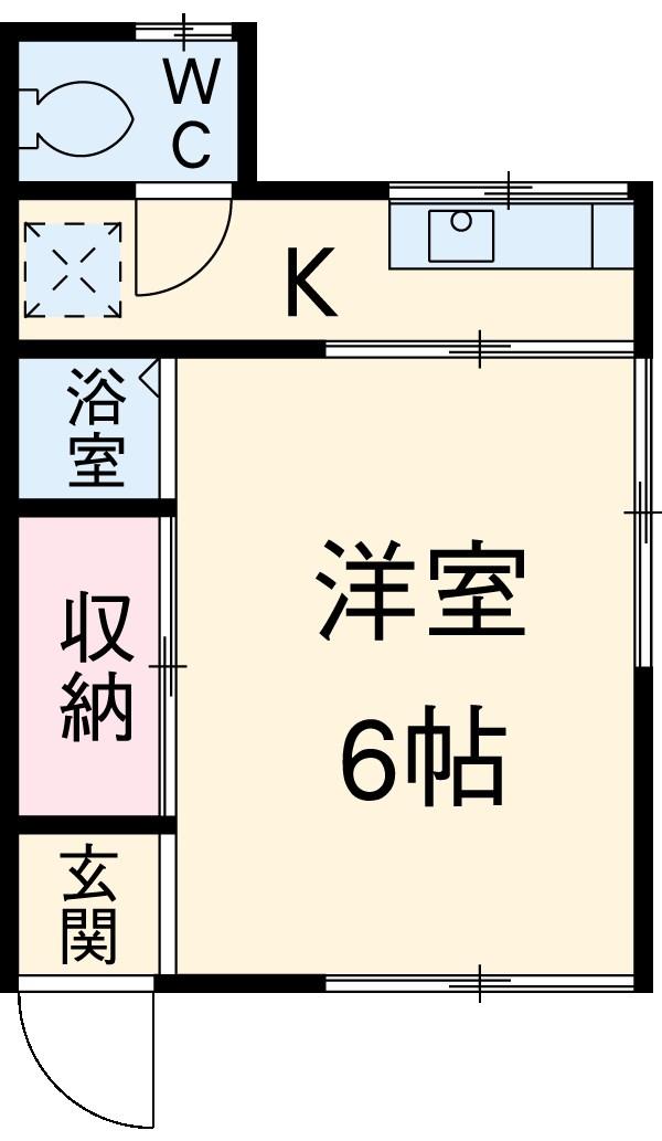 パークビュー善福寺川緑地・1号室の間取り