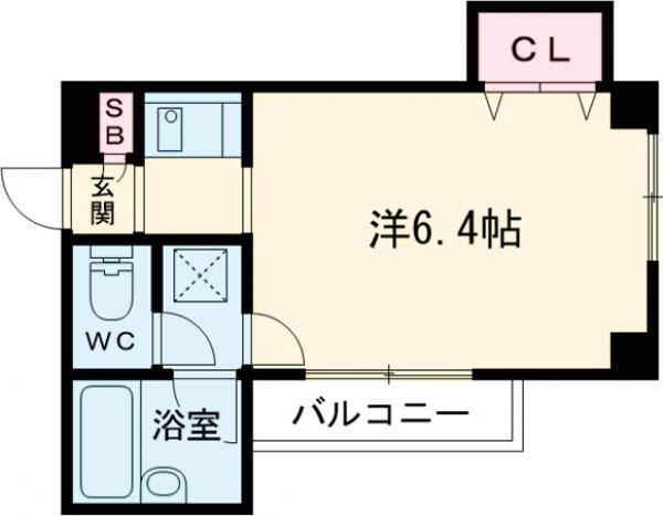 COM.Y.S.・206号室の間取り