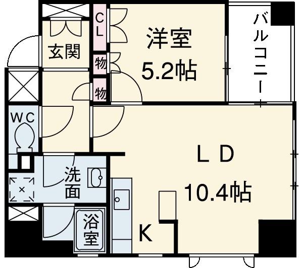 ジェイパーク渋谷神泉 305号室の間取り