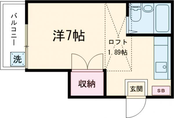 コーポユタカ・203号室の間取り